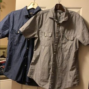 Blue & Grey Express short sleeve dress shirt